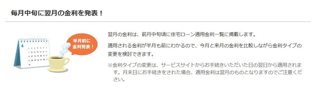 ソニー銀行の住宅ローン金利発表
